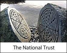 image of a national trust sculpture near friar's crag on derwentwater which is an image link to the national trust places to visit in the lake district and cumbria page