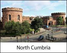 image of the exterior of carlisle citadel which is an image link to the information page for the north cumbria area places to visit in