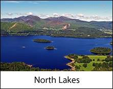 image of derwentwater lake and islands which is an image link to the information page for the north lakes area places to visit in the lake district information