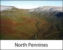 an image of high cup nick in the pennines which is an image link to the information page for the north pennines in cumbria area
