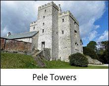 image of a pele tower which is an image link to the pele towers to visit in the lake district and cumbria page