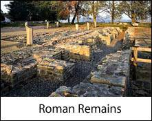 image of roman ruins at birdoswald which is an image link to the roman remains and roman sites to visit in the lake district and cumbria page