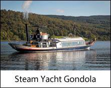 an image of the steam yacht gondola sailing on coniston water in the lake district
