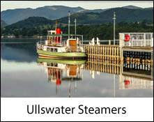 an image of one of the ullswater steamer boats on a lake cruise in the lake district