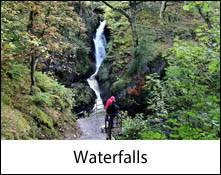 image of a lake district waterfall which is an image link to the waterfalls of the lake district and cumbria