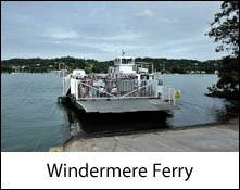 an image of the bowness-on windermere ferry about the leave the ferry terminal on windermere lake