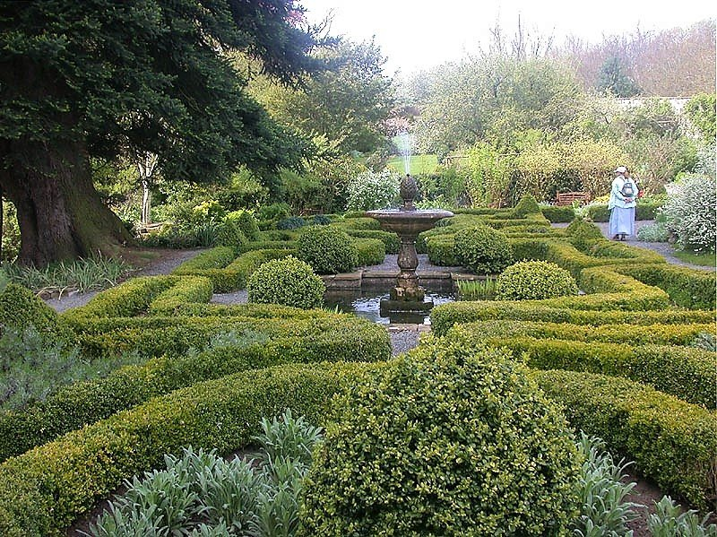 image of the gardens at dalemain historic house at penrith in cumbria