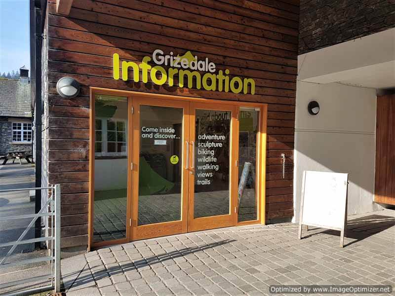 image of the entrance to grizedale visitor centre