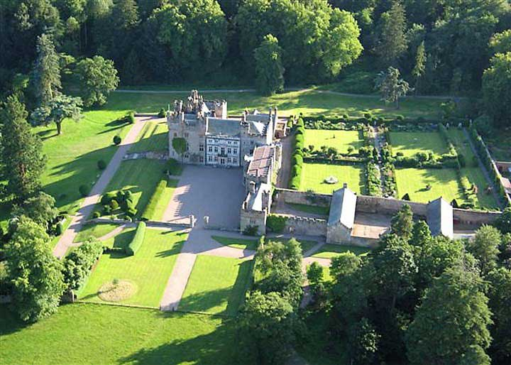 image of an aerial view of hutton-in-the-forest historic house to visit in cumbria