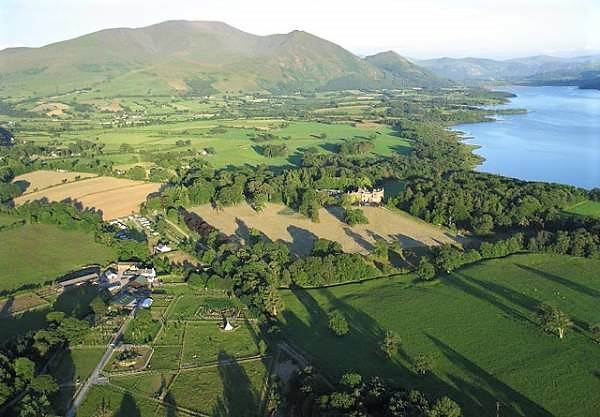 an aerial view of the lake district wildlife park, an animal attraction in the lake district