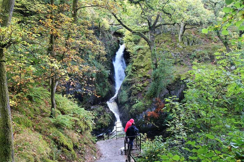 image of aira force waterfall at ullswater in the lake district