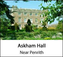 image of topiary and askham hall exterior near penrith in cumbria