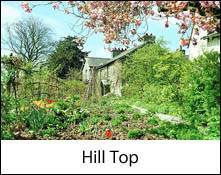 an image of hill top at sawrey in the lake district, the home of beatrix potter