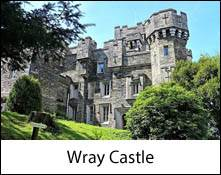 an image of wray castle near ambleside for the beatrix potter exhibition