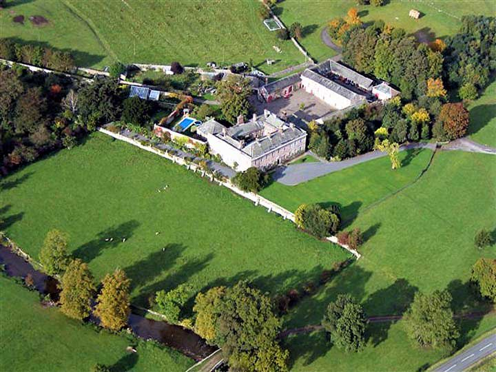 image of an aerial view of dalemain historic house and gardens at penrith in cumbria