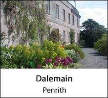 image of the facade of dalemain historic house near penrith in cumbria