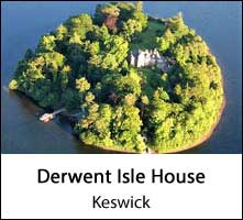 image of an aerial view of derwent isle house near keswick