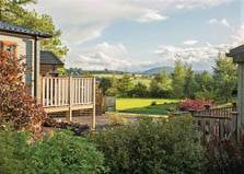 an image of the views in the park setting of flusco wood holiday park in the lake district