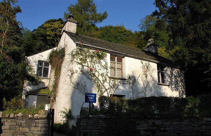image of dove cottage museum at grasmere, home of william wordsworth