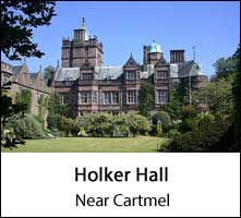 image of holker hall in cartmel in the lake district page