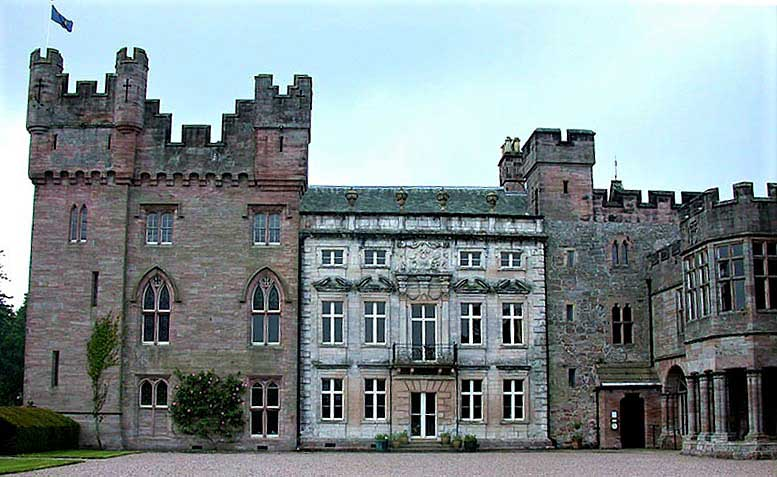 image of the facade of hutton-in-the-forest country house in cumbria