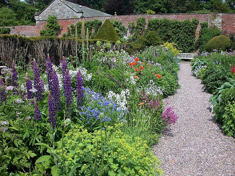 image of gardens and flowers at hutton-in-the-forest historic house to visit in cumbria