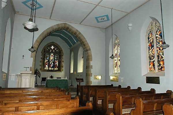 image of the interior of St Mary's Church at Rydal in the Lake District