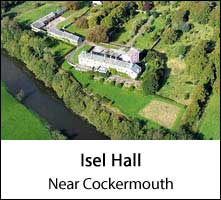 image of isel hall near cockermouth in cumbria