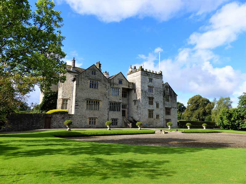 image of the facade of levens hall near kendal