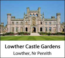 image of the empty facade of lowther castle at penrith in cumbria