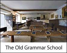 an image of the old grammer school at hawkshead, a william wordsworth museum