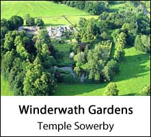 image of an aerial view of winderwath gardens in cumbria
