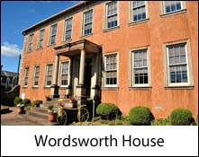 an image of the front of wordsworth house at cockermouth