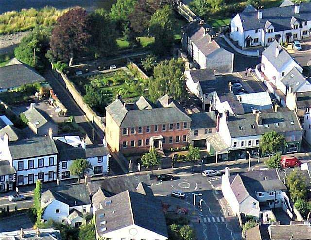 image of aerial view of wordsworth house in cockermouth, birthplace of william wordsworth
