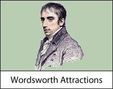 image of a portrait of william wordsworth which is an image link to the william wordsworth places to visit in the lake district and cumbria page
