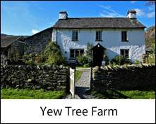 an image of yew tree farm the home of beatrix potter in the lake district