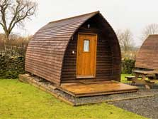 image of camping pods in the lake district for glamping holidays