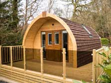 image of luxury ensuite pet friendly lake district camping pods for glamping holidays