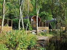 image of luxury ensuite lake district camping pods for glamping holidays