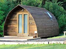 image of wigwam camping pods for glamping holidays in the lake district
