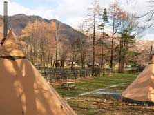 image of tipis at Langdale and coniston in the lake district
