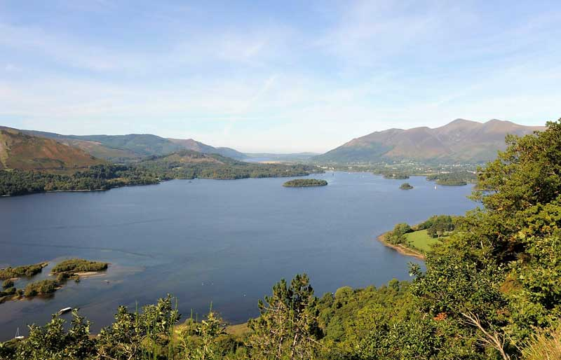image of Keswick and Derwentwater lake taken from Surprise View