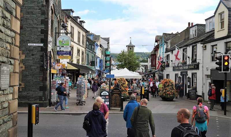 image of keswick moot hall and market in the lake district