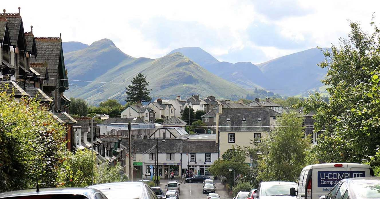 image of Keswick Main Street seen from Stanger Street