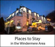 image of a Windermere lake hotel in the Lake District