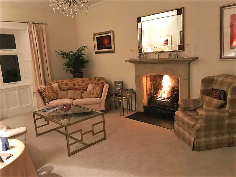 image of the sitting room at Abbey Farm Guest House at Lanercost near Brampton