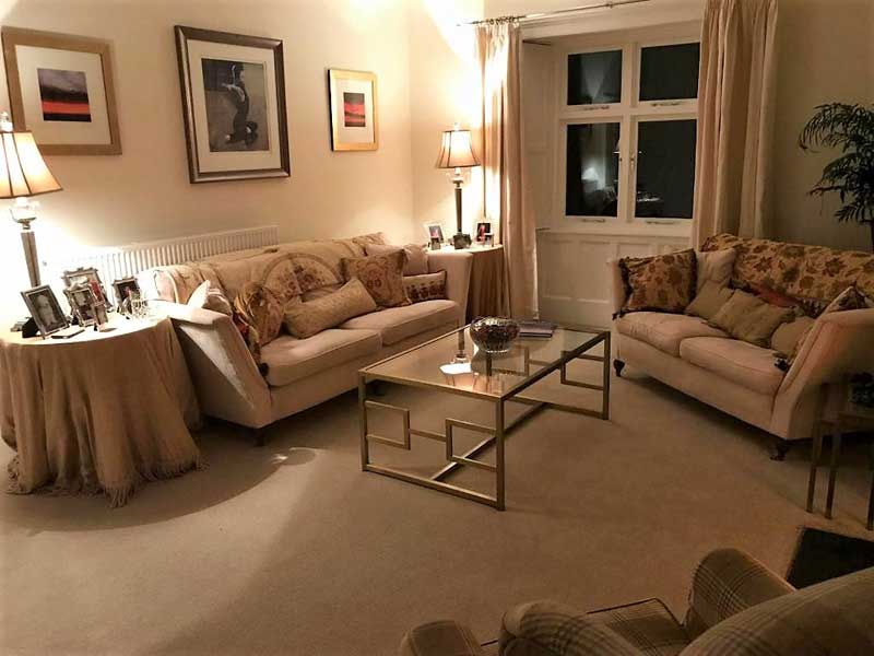 image of the sitting room at Abbey Farm Guest House, a Brampton B&B at Lanercost in Cumbria