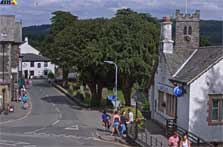 image of Coniston webcam of a picture of Coniston Village church and street