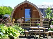 image of an ensuite glamping pod near keswick in the lake district
