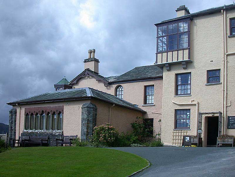 image of Brantwood, home of John Ruskin, on Coniston Water in the Lake District